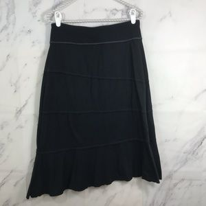 Athleta Asymmetrical Layered Black Athletic Skirt